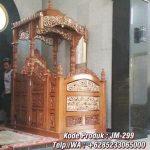 Mimbar Podium Ornamen Arabic Masjid Besar Malang