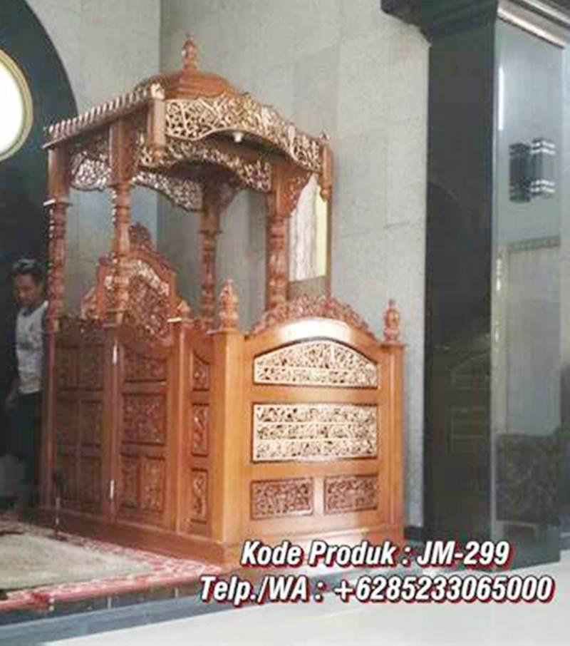 Mimbar Podium Ornamen GRC Masjid Kota Rembang