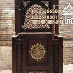 Mimbar Podium Ornamen Ukiran Masjid Kota Prabumulih