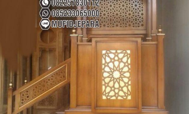 Mimbar Minimalis Ornamen Marocco Masjid Daerah Bengkulu