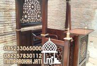 Mimbar Jepara Ornamen Marocco Masjid Daerah Kota Kayu Agung