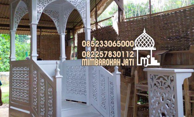 Mimbar Masjid Ornamen GRC Masjid Besar Lampung Tengah