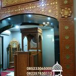 Mimbar Minimalis Ornamen Marocco Masjid Wilayah Koba