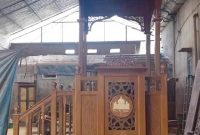 Podium Mimbar Ornamen Marocco Masjid Besar Kampar