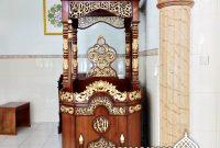 Podium Mimbar Ornamen Ukiran Masjid Kota Takengon