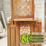 Mimbar Minimalis Ornamen Marocco Masjid Daerah Bukittinggi