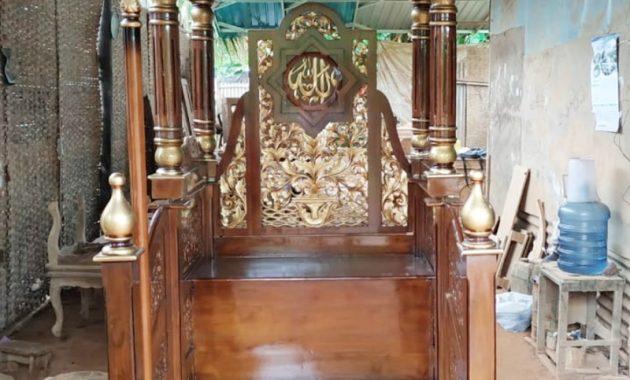 Mimbar Sunnah Ornamen Marocco Masjid Besar Tanggamus