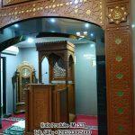 Podium Mimbar Ornamen Marocco Masjid Besar Pringsewu