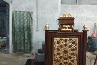Podium Mimbar Ornamen Arabic Masjid Kota Tembilahan
